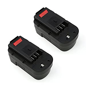 [2-Pack] ForceAtt HPB18 18V 54Wh Ni-CD Replacement Cordless Power Tool Battery for BLACK&DECKER Tools FSB18 FEB180S A18 A1718 A18NH HPB18(Black) from ForceAtt