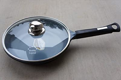 """9.5"""" Fry pan with Non-stick German Weilburger Ceramic Coating by Healthy Legend -ECO Friendly Non-toxic Cookware"""