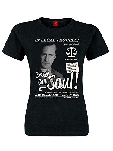 Better Call Saul Lawbreakers Welcome Maglia donna nero S