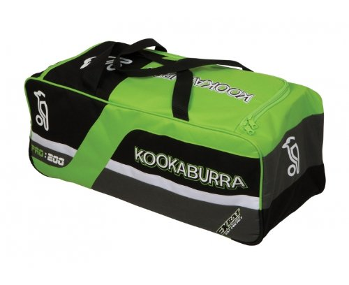 Kookaburra Pro 200 Holdall Cricket Bag - Black/Lime/Silver