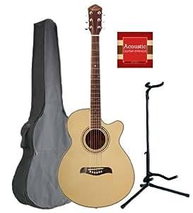 oscar schmidt by washburn og10ce concert size cutaway acoustic electric guitar combo. Black Bedroom Furniture Sets. Home Design Ideas