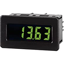 Red Lion CUB4V Miniature DC Volt Digital Panel Meter with Red Backlight, 9-28 VDC, +/-199.9 mVDC to +/-199.9 VDC Input Voltage