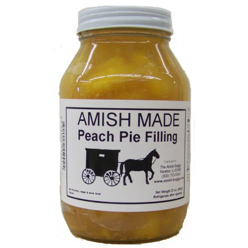 Amish Buggy Pie Filling, Peach, 32 Ounce (Pack of 12)