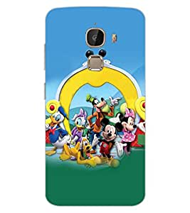 ColourCraft Lovely Cartoon Characters Design Back Case Cover for LeEco Le 2