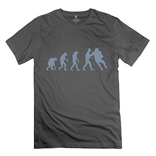 Zya6W Men Football Evolution Causal T Shirt Deepheather Xs,Vintage Clothing