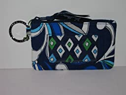 Vera Bradley Zip Id Case in Mediterranean Blue