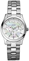 Guess Womens W11140L1 Silver Stainless-Steel Quartz Watch
