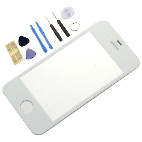Able® For Iphone 4 / Iphone 4S Generic Replacement Front Screen Glass Lens Cover For Iphone 4S White (Lcd Screen Digitizer Is Not Included) + Tools