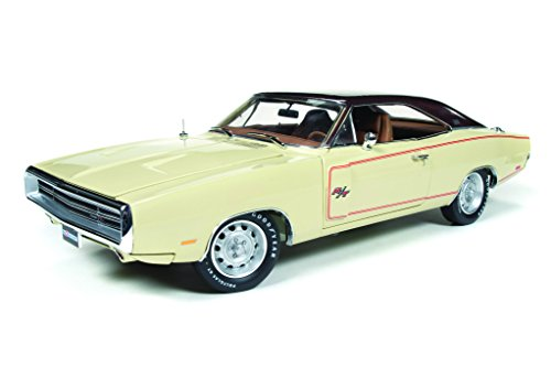 1970 Dodge Charger Rt/Se Cream Dodge 100Th Anniversary 1/18 By Autoworld Amm1036