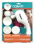 Touch 'N Tone massager with Multiple Attachments for Face, Scalp and Body