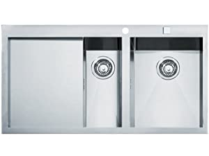 Franke flush mount inset sink Planar PPX 251 smooth stainless steel ...