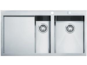 Franke Flush Mount Sink : Franke flush mount inset sink Planar PPX 251 smooth stainless steel ...