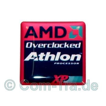 Gehäuseaufkleber 25 x 25 mm Casesticker 3D-Doming AMD Athlon XP Overclocked