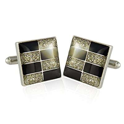 Cuff-Daddy Brick wall Diamond Dust Cufflinks