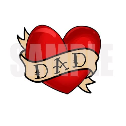 Amazon.com : I Love Dad Heart Temporary Tattoo Set of 4 : Other