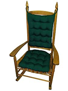 Standard Large Rocking Chair Pad Set Outdura Green Indoor Outd