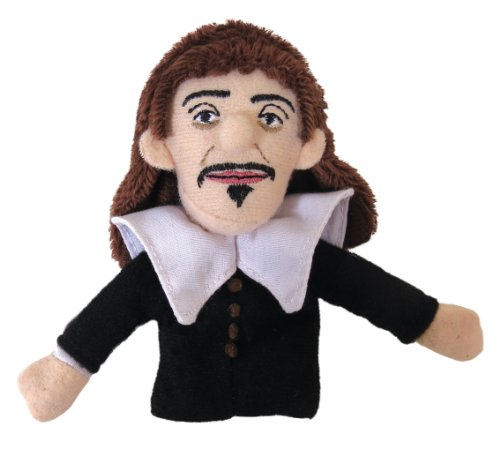 Rene Descartes Finger Puppet and Refrigerator Magnet - By The Unemployed Philosophers Guild