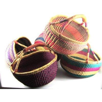 sacs de courses et cabas bolga panier rond afrique ghana panier de course. Black Bedroom Furniture Sets. Home Design Ideas