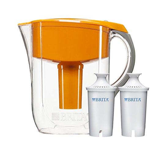 Brita 10 Cup Orange Grand Water Filter Pitcher with 2ct Filter (Brita Orange Grand Pitcher compare prices)