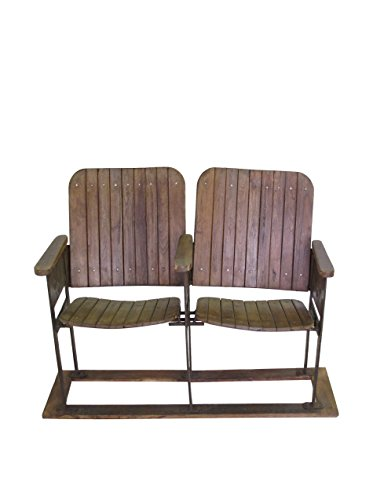 Blue Ocean Traders 2-Seat Theater Chair, Brown