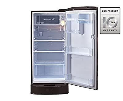 LG GL-D221AHAN.DHAZEBN Direct-cool Single-door Refrigerator (215 Ltrs, 5 Star Rating, Hazel Aster)