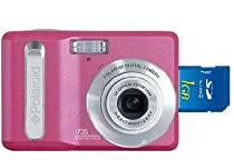 Polaroid i735 7MP 3x Optical / 4x Digital Zoom Camera (Pink) + 1 GB SD Memory Card