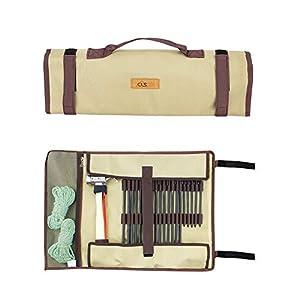 【折り畳み可】Linkax ペグケース ペグバッグ ハンマー ペグ 一括収納ケース キャンプ アウトドア