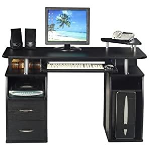 Furniture Stores Uk Computer Desk Home Office Furniture Pc Table Black Next Day Delivery