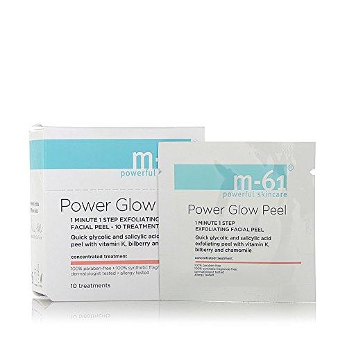 M-61 Power Glow Peel, Size 10 Treatments alpha beta peel original formula for sensitive skin jar 60 treatments