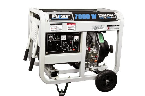 Pulsar Pg7000Dof Diesel Powered Generator With Open Frame, 7000-Watt Output