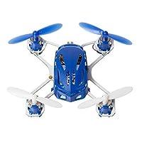 Hubsan Drone H111 Q4 Nano - World's Smallest Quadcopter - 2.4 GHz 4CH RC Drone - Exclusive Blue