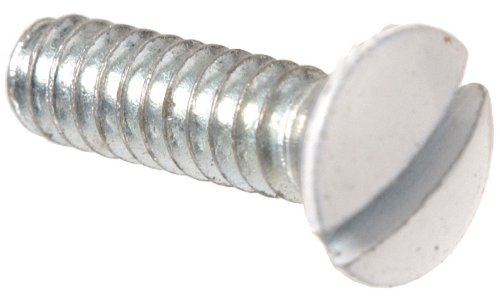 The Hillman Group The Hillman Group 4197 White Electrical Switch Plate Screw 6-32 X 1 In. (20-Pack)