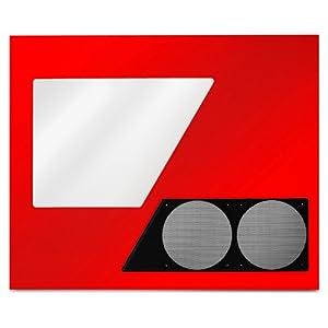 NZXT PHANTOM-R専用クリアサイドパネル レッド PHAN-W03(R)