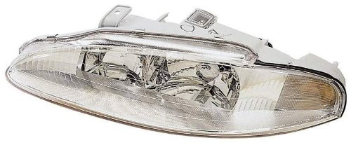 Depo 314-1102R-AS Mitsubishi Eclipse/Eagle Talon Passenger Side Replacement Headlight Assembly with Corner Light (95 Eclipse Headlight Assembly compare prices)