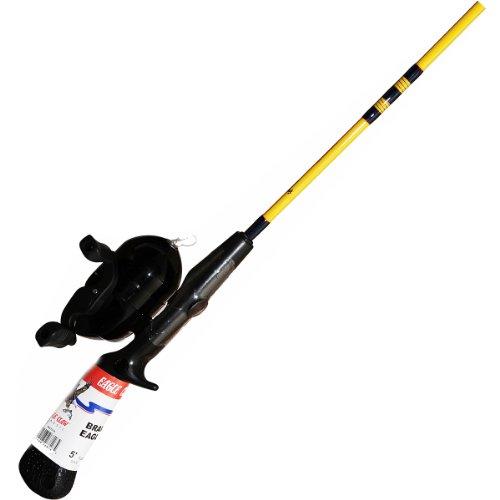 Eagle Claw Medium Spincast Rod/Reel Combo, 1 Piece (Yellow, 5-Feet)