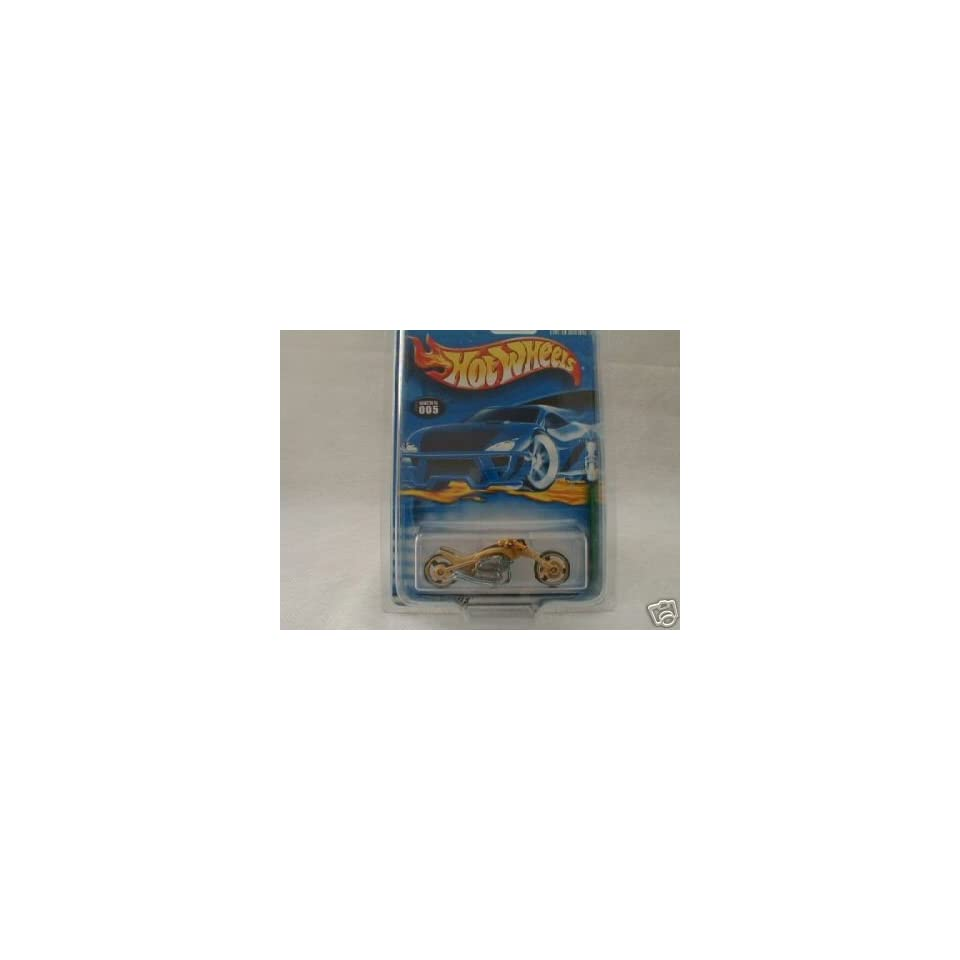 Mattel Hot Wheels 2001 Treasure Hunt 164 Scale Gold Blast Lane 5/12 Die Cast Motorcycle #005