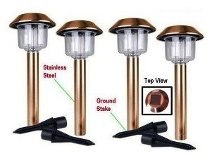 2-Pack Copper Hut White Led Solar Lights (E98Cop) Blue