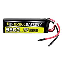11.1V LIPO 3300mAh 35c 3S Radio Control RC Car Helicopter Battery FAST USA SHIP by Exell Battery