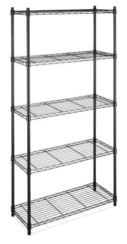 whitmor supreme 5 tier shelving unit black pantry kitchen
