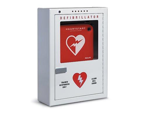 Cabinet Defibrillator, Premium, Wall Surface Mount Strobe & Alarm – PFE7024D