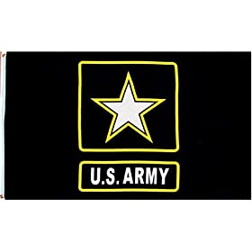 """Army """"New Style"""" MILITARY Flag - 3 foot by 5 foot Polyester (NEW)"""