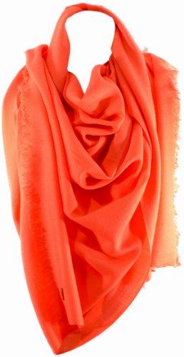Calvin KleinCalvin Klein Womens Cashmere Blend Scarf Orange Glow