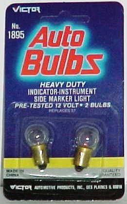 Auto Bulbs 2-pack, for Indicator-instrument, or Side Marker Lights (Replaces #57)