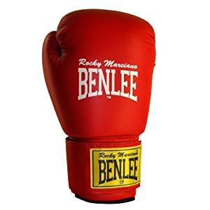 Benlee Rocky Marciano Fighter Leather Boxing Gloves - 8 oz, Red