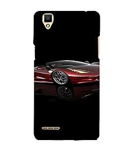 PrintVisa Sports Car Design 3D Hard Polycarbonate Designer Back Case Cover for Oppo F1