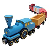 Little Engine That Could - Wooden Train Set Toy - Made in USA, No Lead Paint
