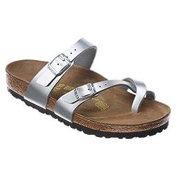Birkenstock Mayari Sandal,Silver,38 N EU