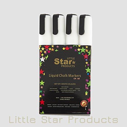 little-star-brilliant-white-chalk-pensliquid-chalk-markers-set-for-nonporous-chalkboards-bistro-boar