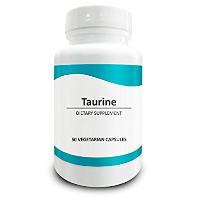 Pure Science Taurine 1000mg -Taurine Supplement Improves Cardiovascular Health, Regulates Blood Sugar Level & Mood - 50 Vegetarian Capsules of Taurine Powder