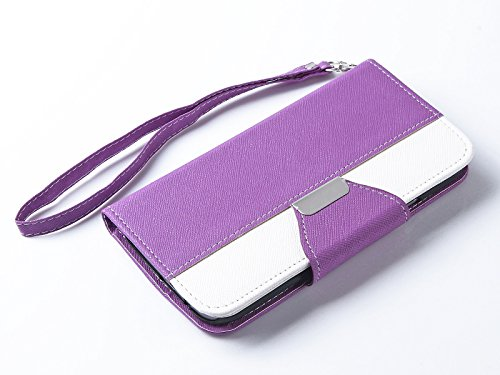 Mylife Aster Purple {Exquisite Design} Faux Leather (Card, Cash And Id Holder + Magnetic Closing) Slim Wallet For The All-New Htc One M8 Android Smartphone - Aka, 2Nd Gen Htc One (External Textured Synthetic Leather With Magnetic Clip + Internal Secure Sn